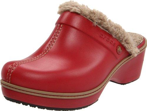 Crocs Women's Crocs Cobbler Lined Mule  &  Clog Garnet/Khaki  11552-63C-440 5 UK
