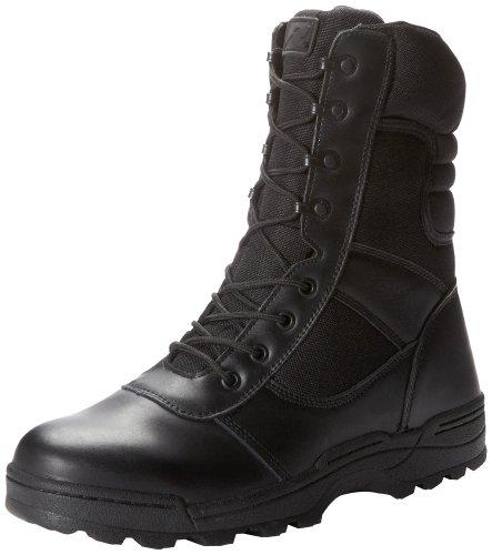 Ridge Footwear Men's Dura-Max Zipper Work Boot,Black,10