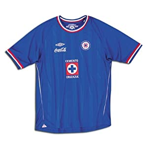 UMBRO CRUZ AZUL HOME JERSEY 2010-2011 (EXTRA LARGE/ADULTS, BLUE)