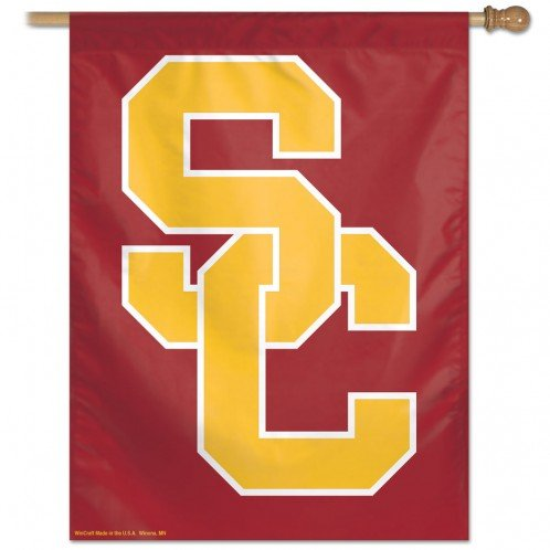 "NCAA USC WCR49136514 Vertical Flag, 27"" x 37"""