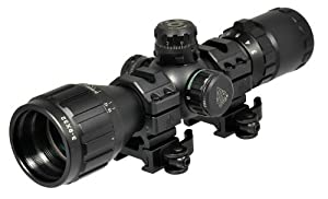UTG 3-9x32 Compact CQB Bug Buster AO RGB Scope with Med. Picatinny Rings, 2