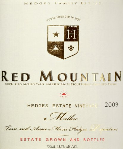 2009 Hedges Family Estate Single Vineyard Limited Malbec 750 Ml