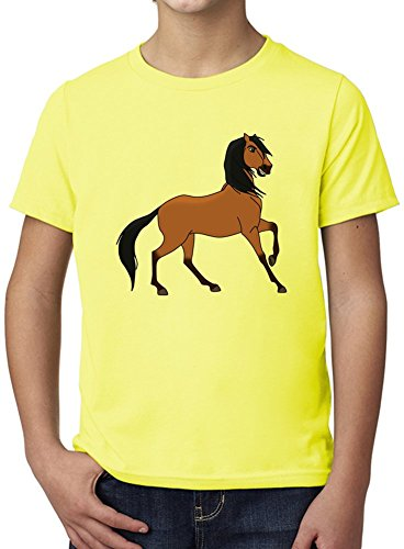 spirit stallion of the cimarron anime Ultimate Youth Fashion T-Shirt by True Fans Apparel - 100% Organic, Hypoallergenic Cotton- Casual Wear- Unisex Design - Soft Material 3-4 years