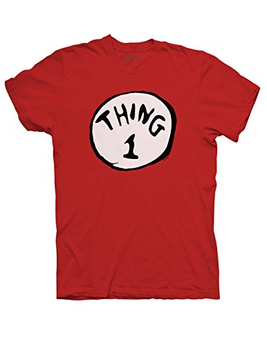 Swagge Adult Thing 1 T-shirt - Small - Red