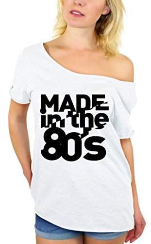 Awkwardstyles Made in the 80's Black Off Shoulder Top in 7 Colors