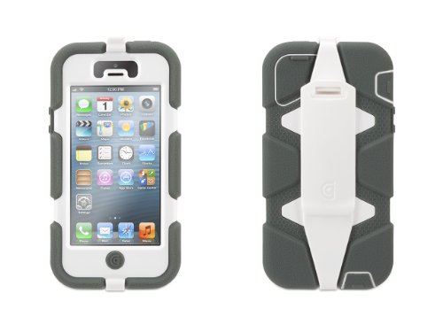 Griffin Survivor Case for iPhone 5/5S - 1 Pack - Retail Packaging - Gray/White (Iphone 4 Navy Seals Case compare prices)