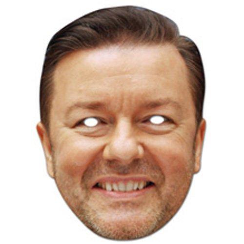 "Mask-Arade High Quality Cardboard Party-Mask ""Ricky Gervais"""