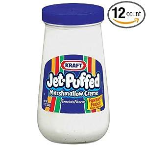 Amazon.com : Jet-Puffed Marshmallow Creme - 13 oz. jar, 12 per case