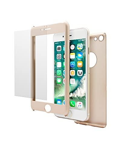 UNOTEC Cover 2 Pezzi Pack Full Protect iPhone 7 Plus Dorato