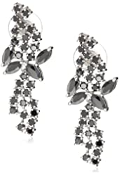 """CZ by Kenneth Jay Lane """"Trend Collection"""" Cubic Zirconia Mini Mosaic Drop Earrings, 12 CTTW"""