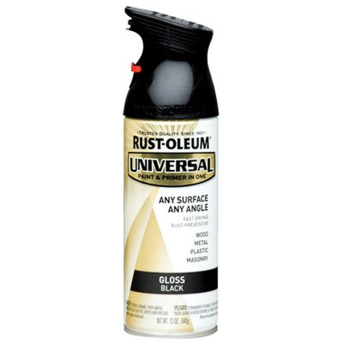 Rust-Oleum 245196 Universal All Surface Spray Paint, 12 oz, Gloss Black (Glossy Spray Paint compare prices)