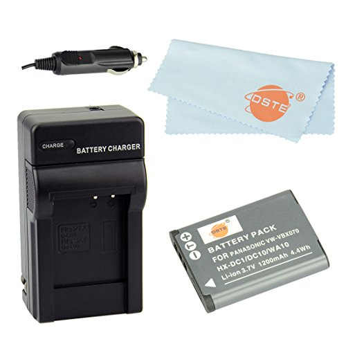 Dste® Kit Vw-Vbx070 Rechargeable Li-Ion Battery + Charger Dc89 For Panasonic Hm-Ta2, Hm-Ta20, Hx-Dc1, Hx-Dc10, Hx-Dc10Eb-K, Hx-Dc10Ef-K, Hx-Dc10Gk, Hx-Dc15, Hx-Dc1Eb-H, Hx-Dc1Eb-K, Hx-Dc1Eb-R, Hx-Dc1Eb-W, Hx-Dc1Ef-H, Hx-Dc1Eg-H, Hx-Dc1Eg-P, Hx-Dc1Gk, Hx-D