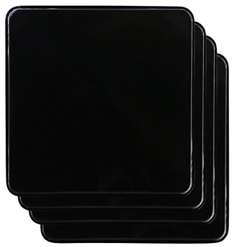 Reston Lloyd Gas Burner Covers, Set of 4, Black (Gas Stove Square Burner Covers compare prices)