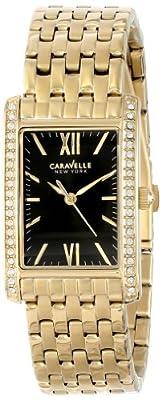 Caravelle New York Women's 44L119 Analog Display Japanese Quartz Yellow Watch