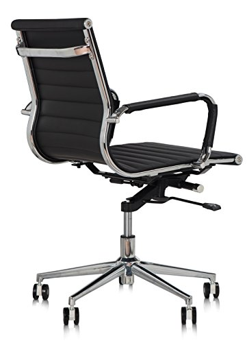 dr office mid back office chair heavy duty base drafting chair black
