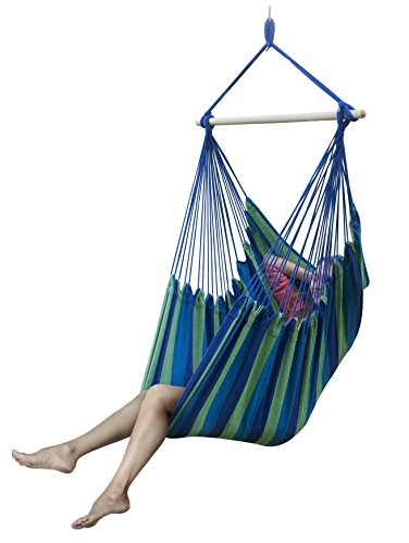 Awardwiki sorbus large brazilian hammock chair extra for Extra wide swing seat