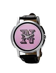 PosterGuy Alphabet N Typography Men's Wrist Watches