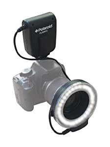 Polaroid Macro LED Ring Flash & Light For Canon SLR Cameras (Will Fit 52,55,58,62,67,72,77mm Lenses)