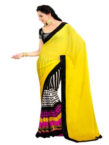Shyama Party Exclusive  413 B Printed Half N Half Saree