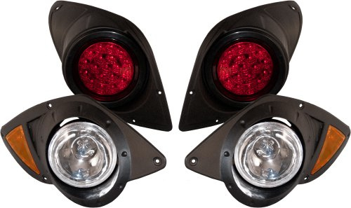Yamaha G29 Drive Basic Light Kit W Halogen Headlights, Led Tail Lights