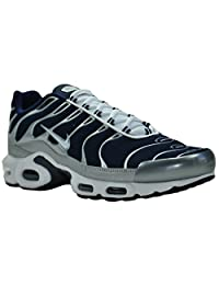 Nike Men's Air Max Plus Midnight Navy / White / Metallic Silver / Black Synthetic Cross-Trainers Shoes 11 M US