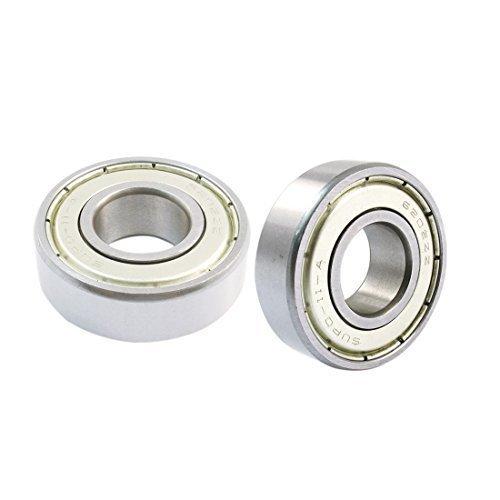 sourcingmapr-2-pezzi-6202-zz-ruota-roller-scudo-cuscinetto-a-sfere-a-gola-profonda-radiale-cuscinett