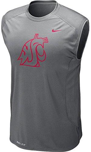 Nike Washington State Cougars Speed Fly Dri-FIT Zoned Cooling Sleeveless Shirt (XL, Gray)