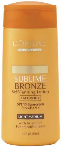 L'Oreal Paris Sublime Bronze Self-Tanning Lotion, Medium, SPF 20, 5-Fluid Ounce