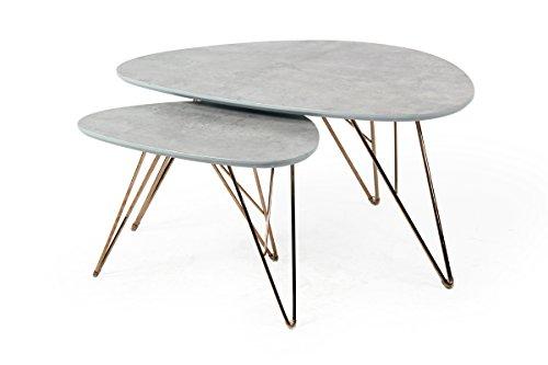 bonvivo design couchtisch louis beistelltisch nierentisch im 50er jahre retro look in marmor. Black Bedroom Furniture Sets. Home Design Ideas