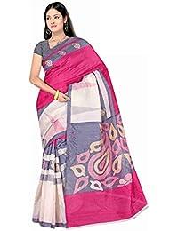 Winza Women's Cotton Printed Saree (Exclusive Ethnic Desi Art Silk Cotton Bolly Bhagalpuri Sarees 1133_Multicolor)