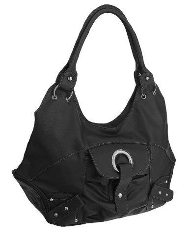 EyeCatchBags - Lia Damen Handtasche aus Kunstleder Schwarz