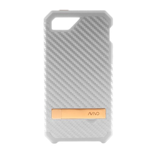 Avivo Titan / Apple Iphone 5 & 5S Carbon Fiber Rugged Case (Ghost White)