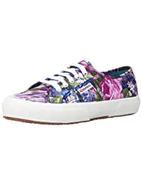 Superga 2750 COTW Fabric 28 Shoes - Violet Flower Paint