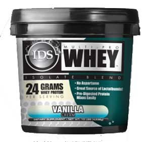 IDS Multi-Pro Whey Vanilla Cream, 10LB Tub