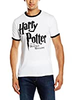 ICONIC COLLECTION - HARRY POTTER Camiseta Manga Corta Deathly Hallows (Blanco)