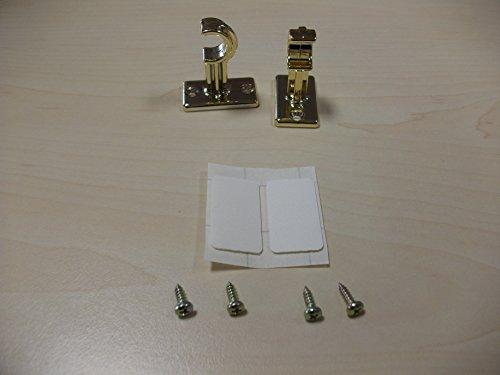 Crochets adhésifs floridastange caféstange scheibenstange laiton tringle à rideaux lot de 2 carré en plastique brillant