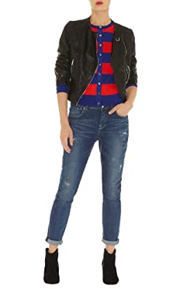 Mesh Stripe Cardigan