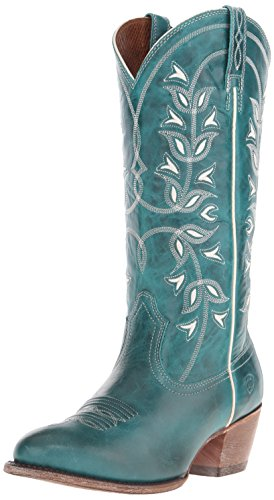 Image of Ariat Women's Desert Holly Western Cowboy Boot, Turquoise, 8.5 B US