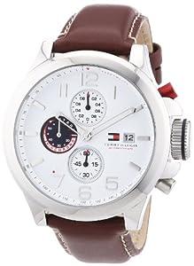Tommy Hilfiger 1790810 - Reloj analógico de cuarzo para hombre con correa de piel, color marrón