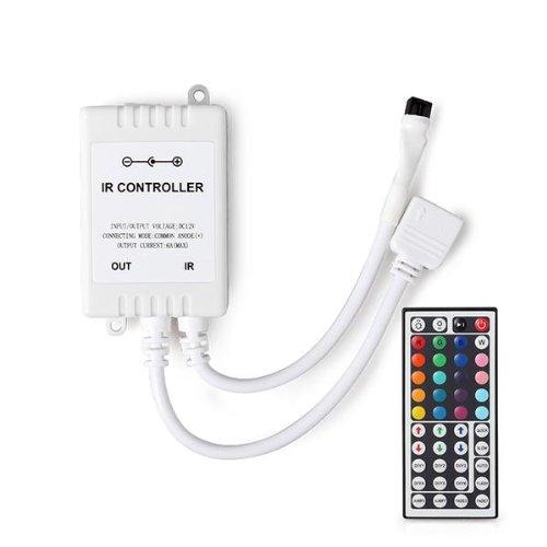 Dc 12V 6A Ir 44 Keys Remote Controller For Rgb Led Light Strip