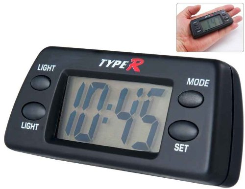 Digital Car Clock With Light (Black)