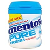 Mentos Pure Fresh Chewing Gum Freshmint with Green Tea 56g