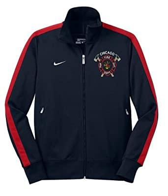 Nike Mens Chicago Fire Department Crossed Axe Full Zip Track Jacket by Nike
