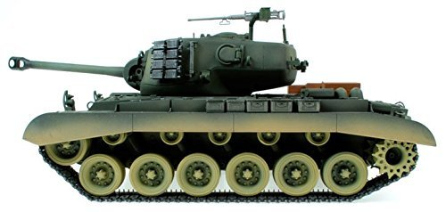Taigen Hand Painted RC Tanks - Metal Upgrade - M26 Pershing - WITH FREE EXTRA BBs & SMOKE LIQUID!