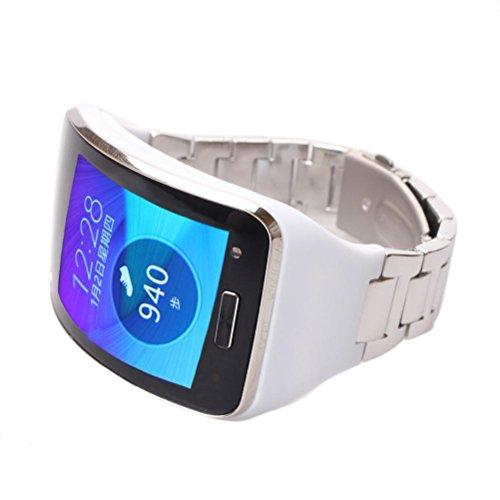Cinturino, ihee Design unico in acciaio inox regolabile sostituzione cinturino da polso braccialetto per Samsung Gear S SM-R750, Uomo, R750, Silver, 214 x 16 x 8MM