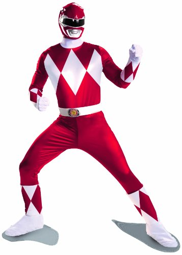 Disguise Costumes Sabans Mighty Morphin Power Rangers Red Ranger Super Deluxe