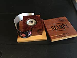 bellacia box stamp roll holder forever desk letter accessory wooden stamp holder. Black Bedroom Furniture Sets. Home Design Ideas