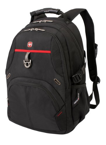 SwissGear SA3183 Black with Red Computer Backpack - Fits Most 15 Inch Laptops and Tablets