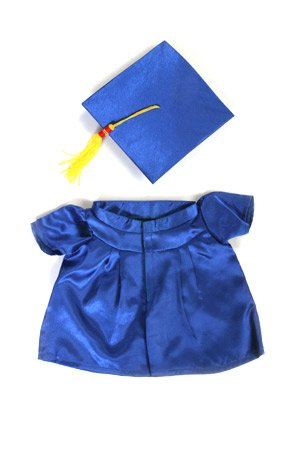 Blue Graduation Cap and Gown fits 14