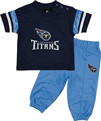 Tennessee Titans Infant Short Sleeve Football Jersey & Pant Set